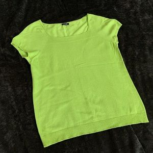 Lime Green Square Neck Blouse